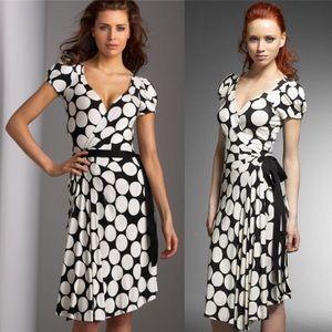 DVF Antonio Polka Dot Wrap Dress